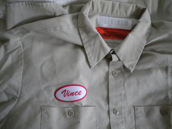 Classic EMPLOYEE Name added to work shirts